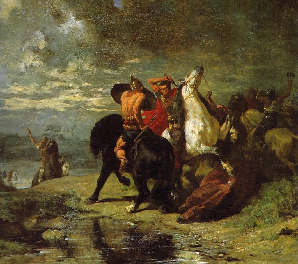 Evariste-Vital Luminais - Combat de Romains et de Gaulois